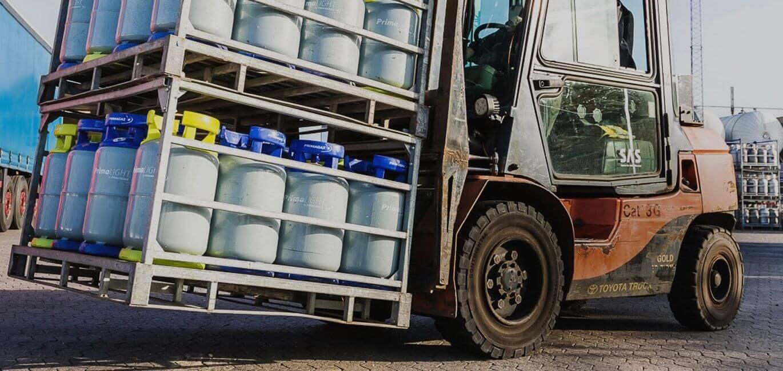Gasflasker til truck